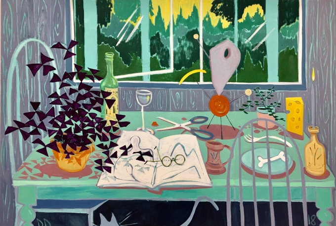 dickon-drury-kitchen-table-with-maquette-2018-oil-on-flax-130x180cm.jpg